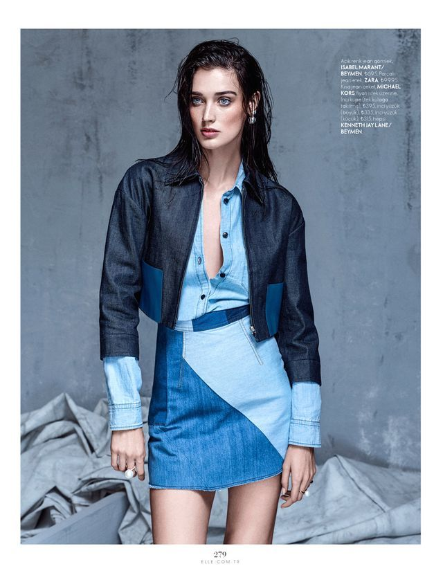 denim couture: marizanne visser by koray parlak for elle turkey may 2015