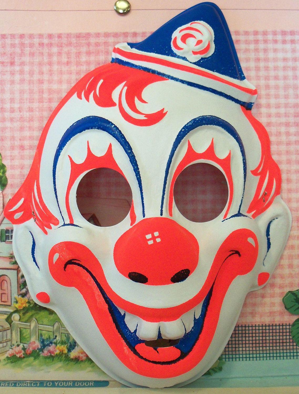 Vintage / Collegeville / Clown Mask / Child Size. $5.95, via Etsy ...