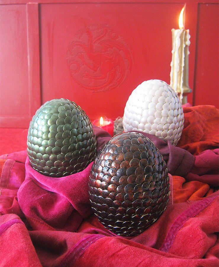 Diy des oeufs de dragon de daenerys de game of thrones p ques pinterest - Objet game of thrones ...