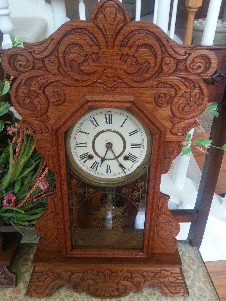 Antique kitchen mantel clocks