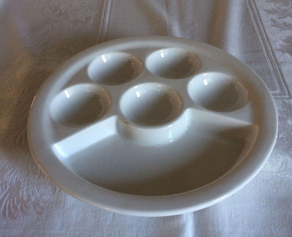 Bizzirri Italy White Antipasto Platter Hand Made Five Small One Large Section #Bizzirri & Bizzirri Italy White Antipasto Platter Hand Made Five Small One ...