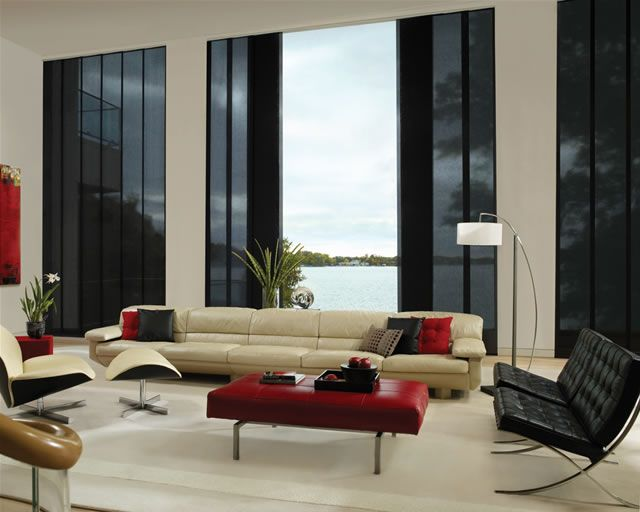 Hunter Douglas Skyline Gliding Window Panels Are Beautiful Coverings That Provide Exceptional Shade