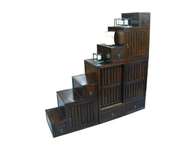 Exceptional Tansu Step Chest Furniture | Step Tansu