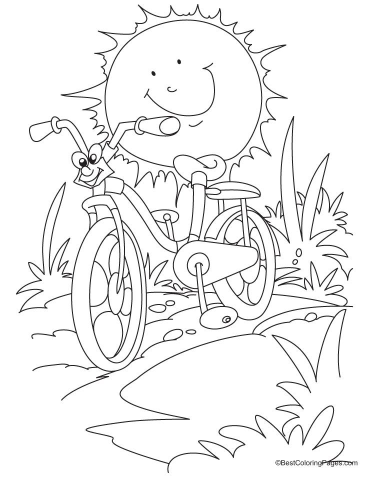 Bicycle Coloring Page 10 Jpg 738 954 Pixels Cool Coloring Pages