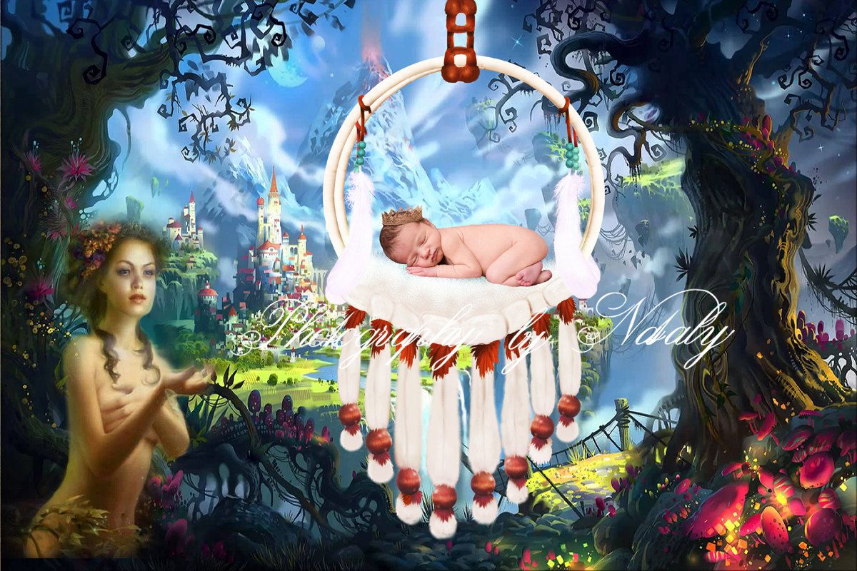 Newborn digital backdrop | Photo props | Newborn background | Magic forest Fairy tales img 4030 by GraphicsSt on Etsy
