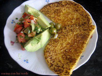 cocina con luz verde: Tortitas de harina de maíz