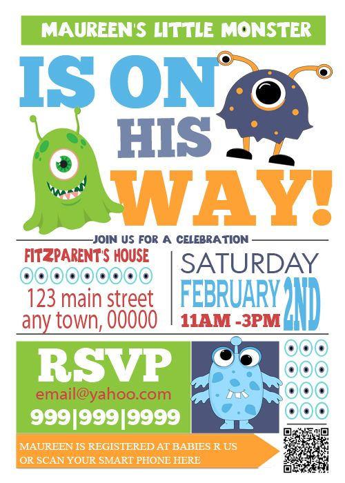 And Stuff Like That There Monster Baby Shower Invite Theodore