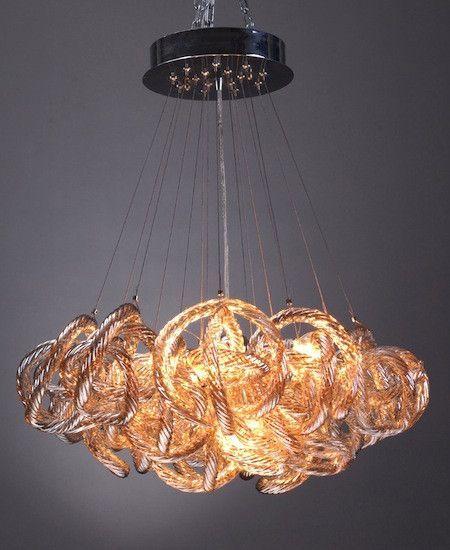 Glass loop chandelier
