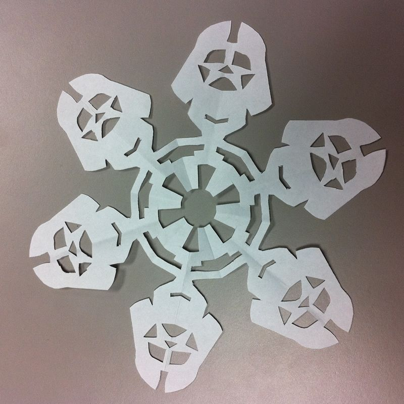 DIY Darth Vader Snowflake - and may the force be with you this christmas season. These worked alright. Not 5 year old friendly like I was hoping. Chase was excited though.
