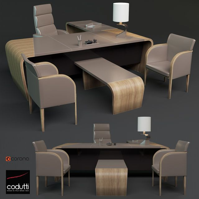 codutti minos office set 3D Office furniture collections