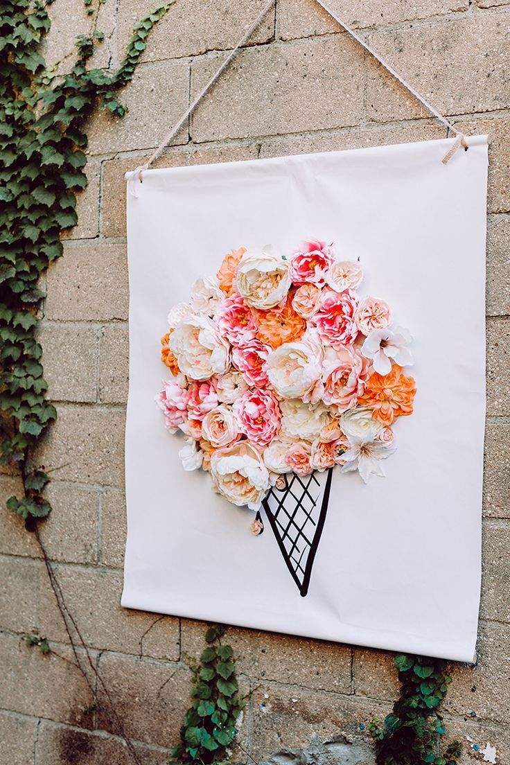 3d Illustrated Floral Backdrop Diy Pinterest Silk Flowers