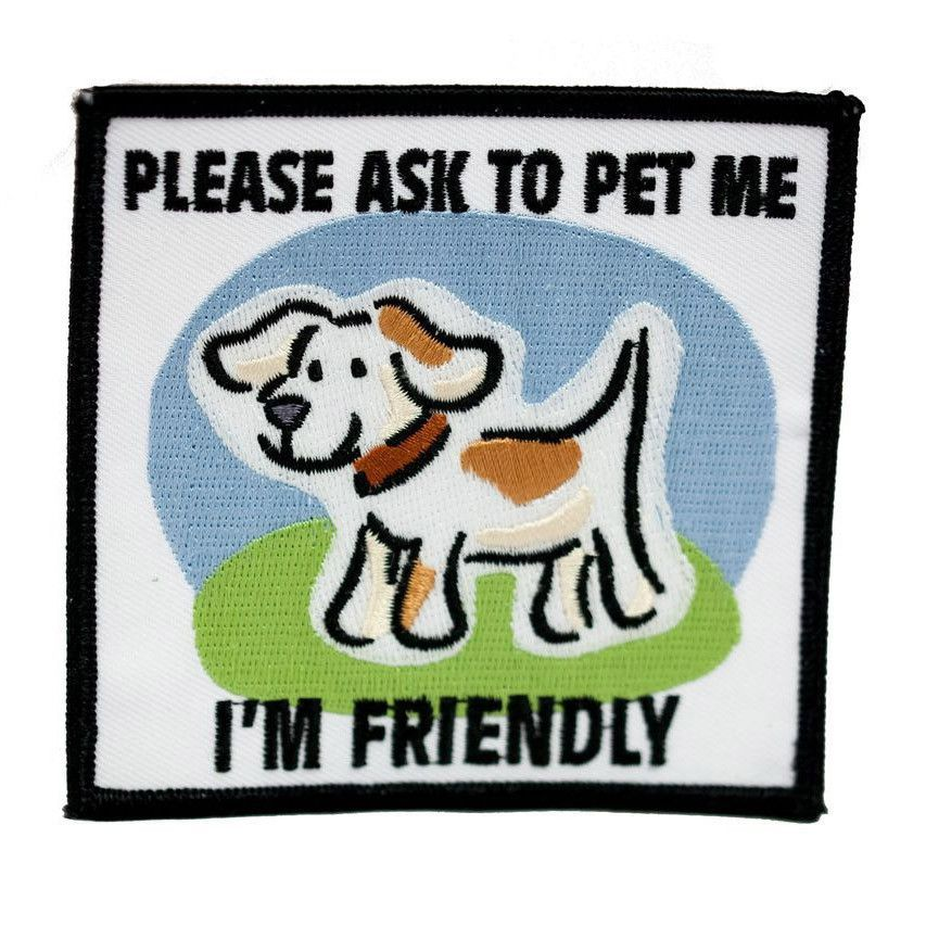 Therapy Patch Ask To Pet – SitStay