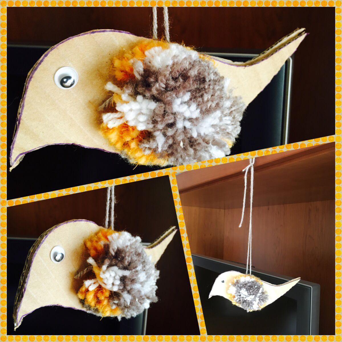Bird pom pom pájaro con pompones desde Evocue