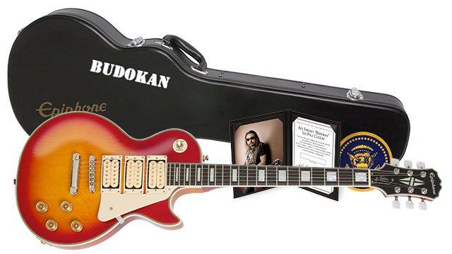 "Epiphone Ltd. Edition Ace Frehley ""Budokan"" Les Paul Custom Outfit |  Epiphone, Les paul custom, Les paulPinterest"