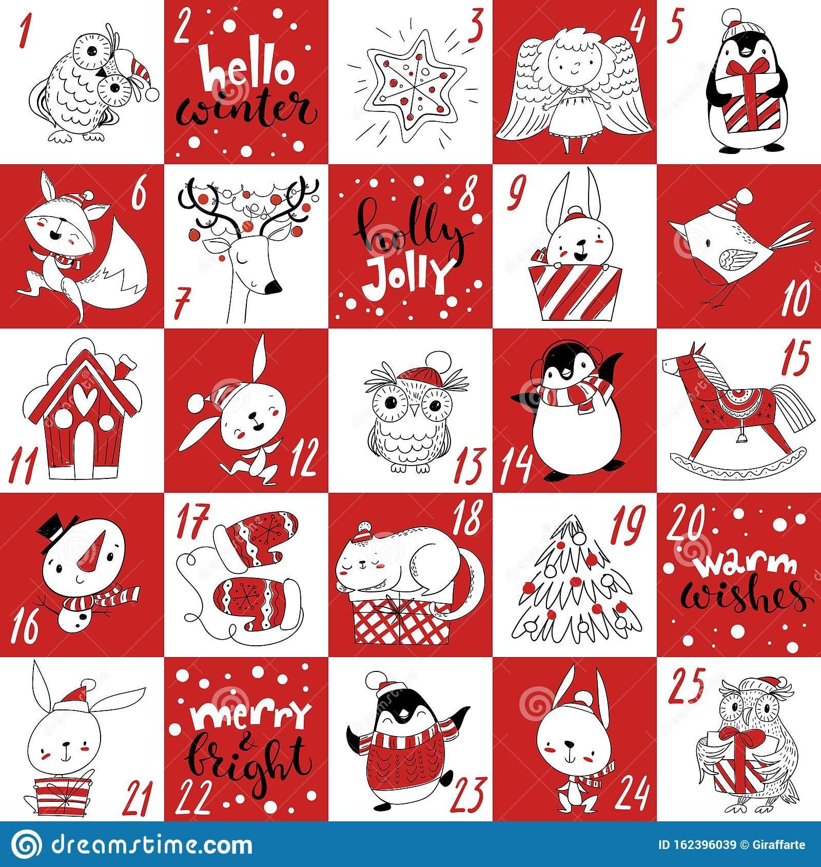 Winter Advent Christmas Calendar