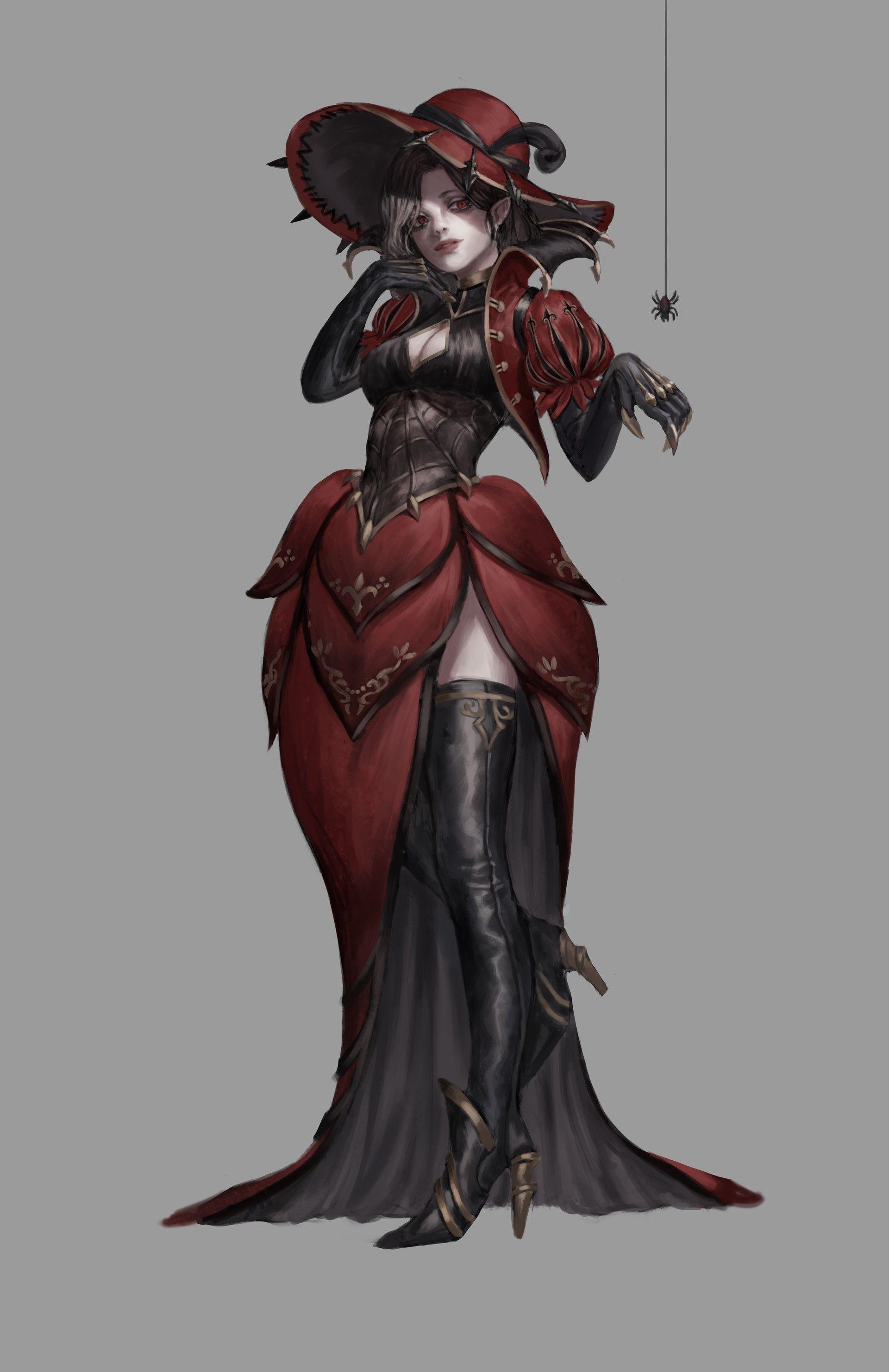 ArtStation Spider Queen, Gold can Character Portraits