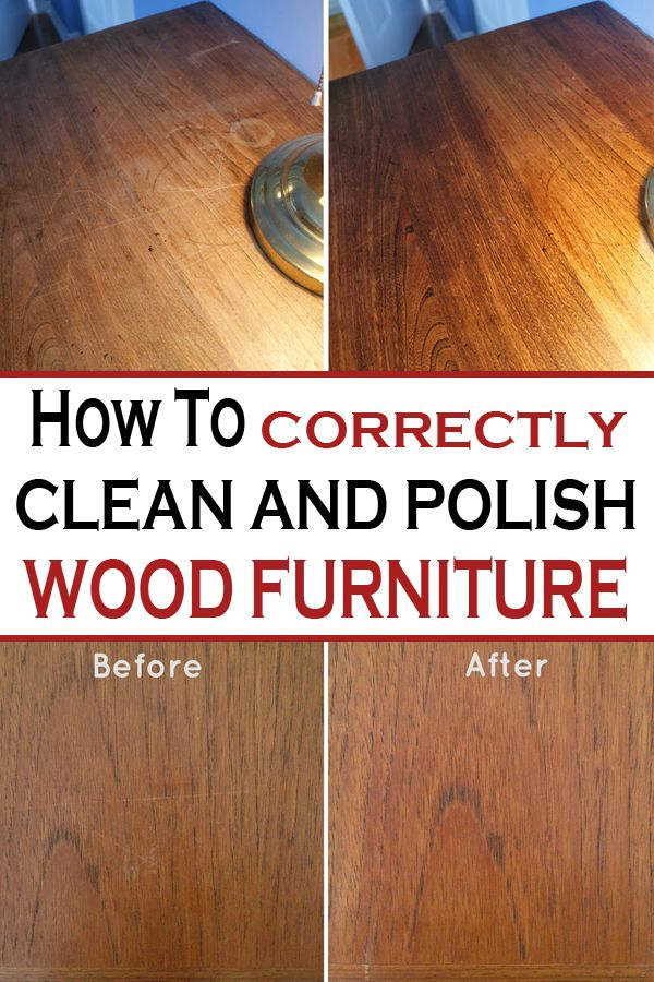 How To Correctly Clean And Polish Wood Furniture Cleaningisfun Wood Polish Cleaning Wood Furniture Wood Furniture