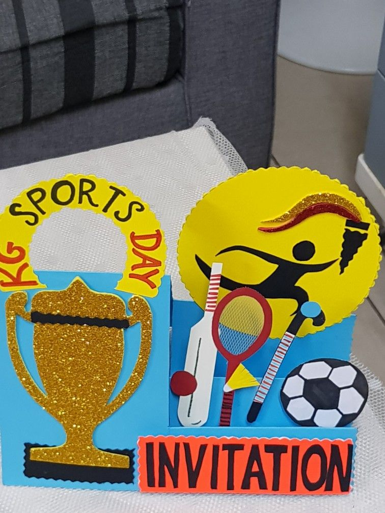 Pin By Kanchan Prathamshetti On Handmade Greeting Card For Sports
