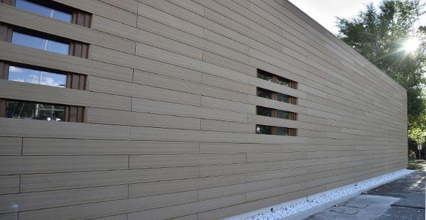 Eco Friendly Wpc Wall Panel Composite Exterior Wall Panels Aussenverkleidung Gartengestaltung Wood Plastic