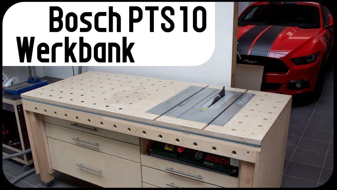 Werkbank mit integrierter Bosch PTS10 / Tischkreissäge ...