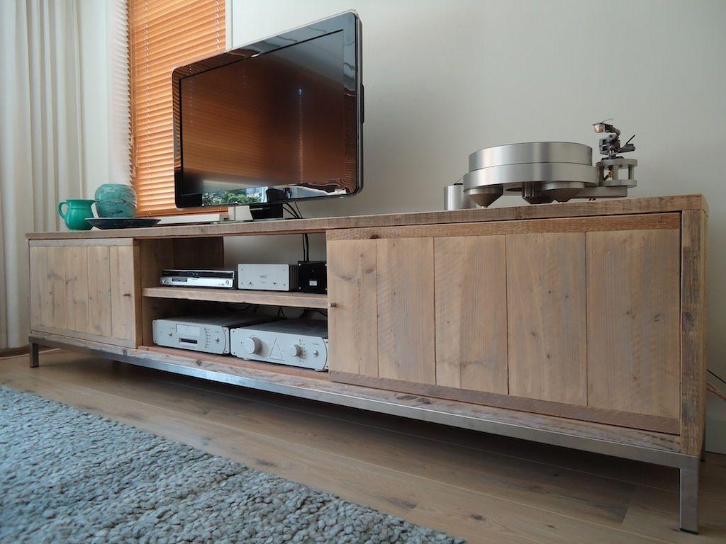 Vinyl Steigerhout Look : Ontwerp tv meubel de materialen van dit meubel zijn steigerhout
