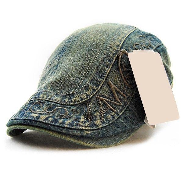 a8fd42c2 8.31AUD - Newsboy Gatsby Cap Mens Ivy Jeans Flat Cabbie Denim Hat Washed  Distressed #ebay #Fashion