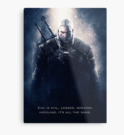 Witcher Wild Hunt - Geralt Metal Print | Displate thumbnail