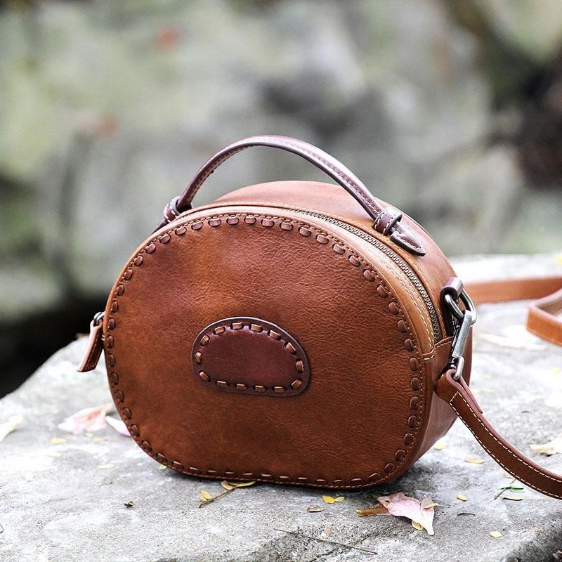 0c8409518e3a9 Handmade Women's Fashion Handbags Small Leather Satchel Messenger Bags AK22  - LISABAG
