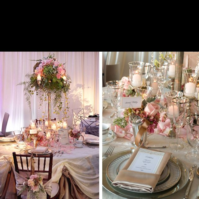 Romantic And Vintage Wedding Table Decoration