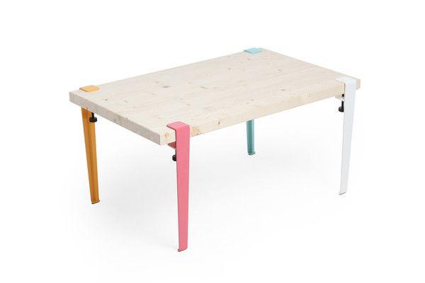 maudjesstyling jeu de 4 petits pieds de table amovible design industriel tiptoe acier tiptoe. Black Bedroom Furniture Sets. Home Design Ideas