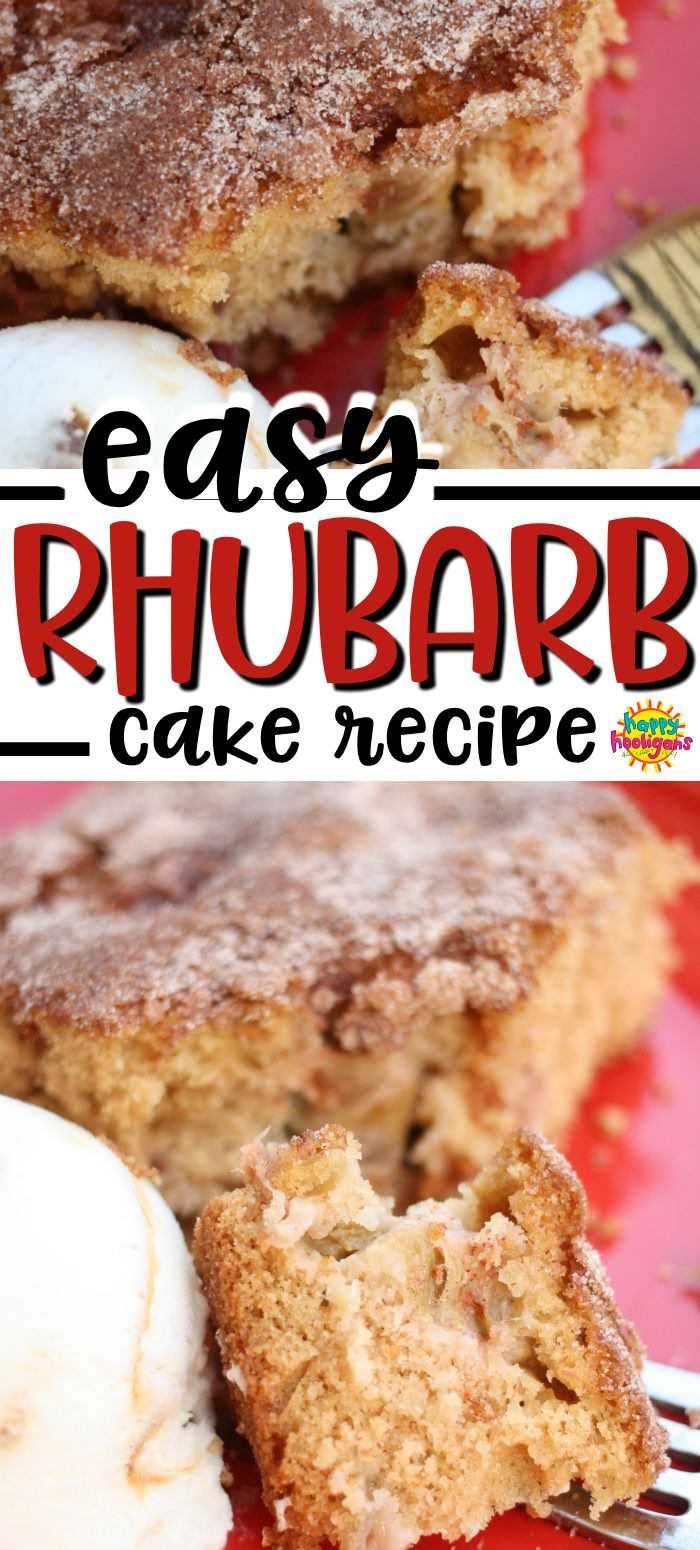 Best Easy Homemade Rhubarb Cake Recipe In 2020 Rhubarb Cake Recipes Rhubarb Recipes Rhubarb Desserts