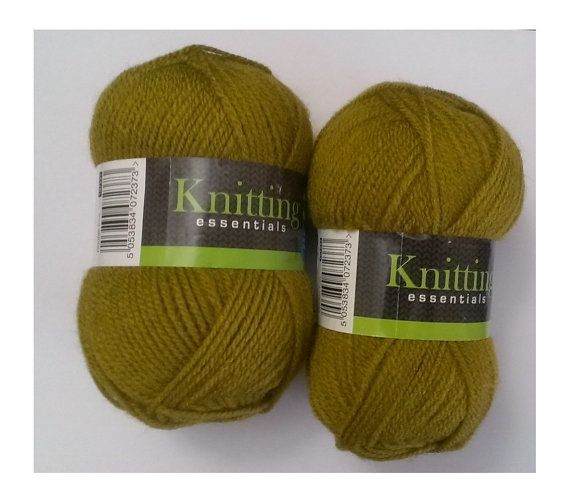 Knitting Essentials DK yarn 100% acrilyc two by EvaHandmadeCrafts