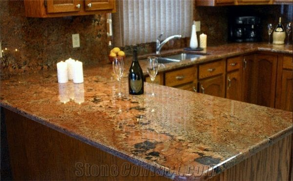 Juparana Bordeaux Granite Countertop