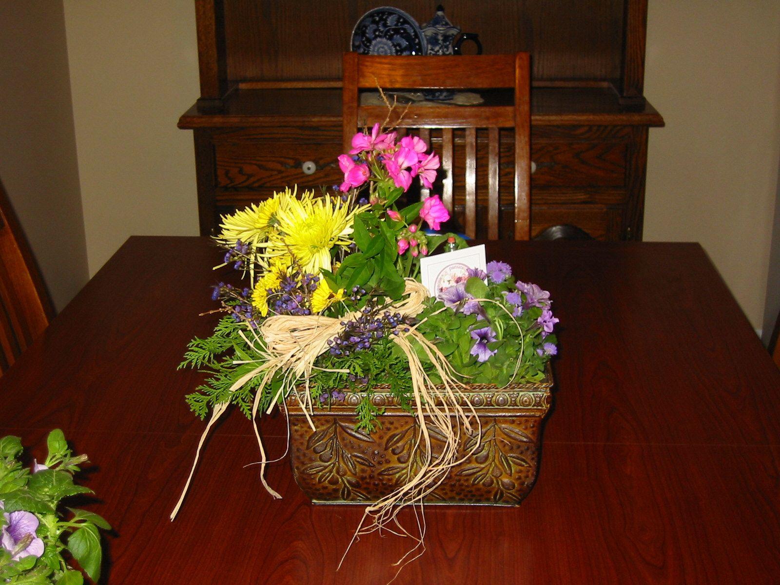 Floral Arrangement (plantable Flowers And Cut Flowers) For Teacher  Appreciation Day