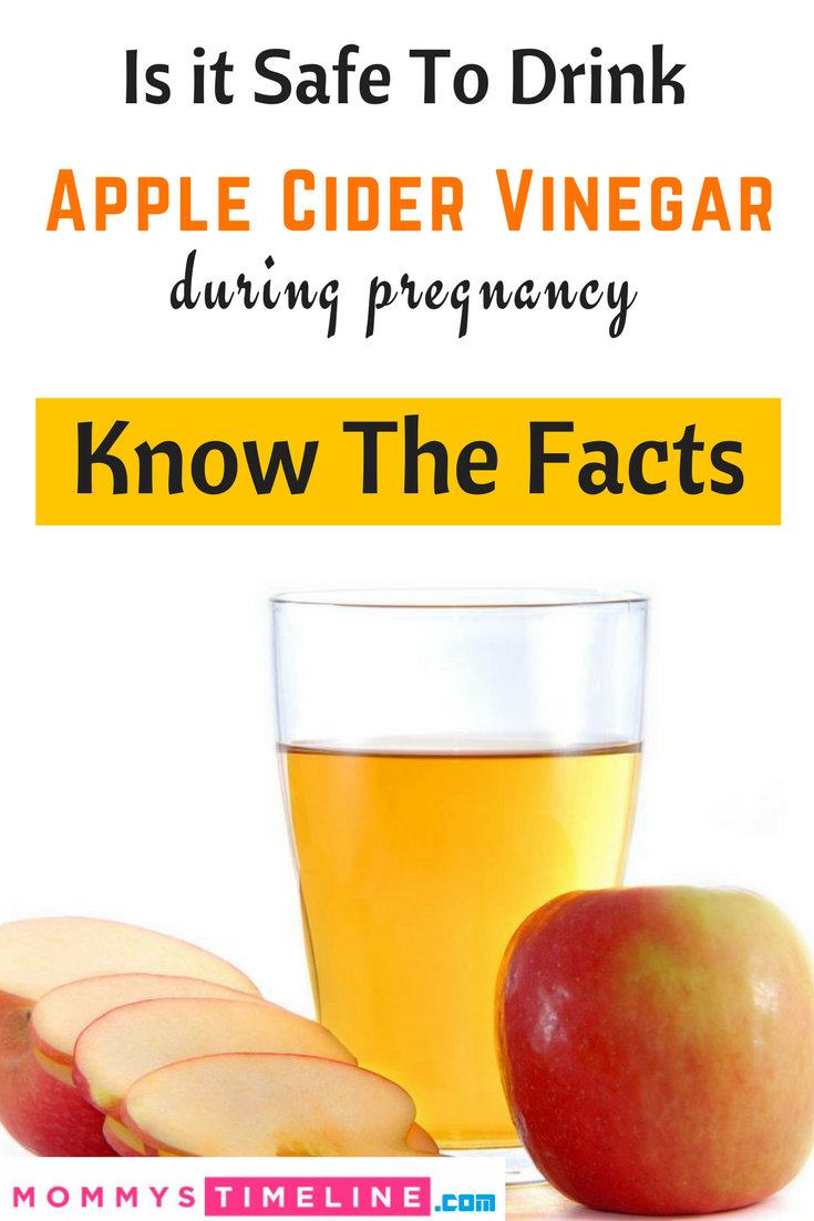 apple cider vinegar while pregnant - is it safe to drink