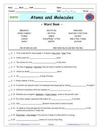 Bill Nye Atoms And Molecules Worksheet Answers - worksheet