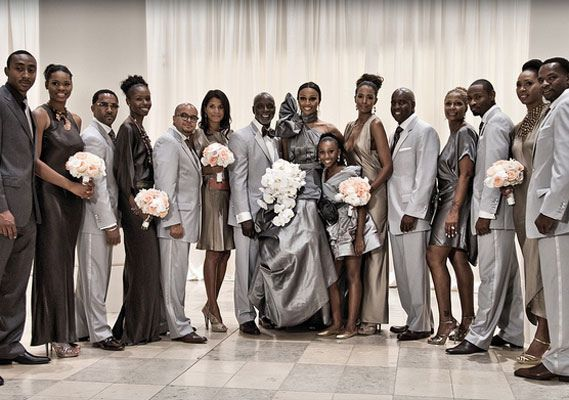 Cynthia Bailey And Peter Thomas Wedding Greys And Peach Rhoa
