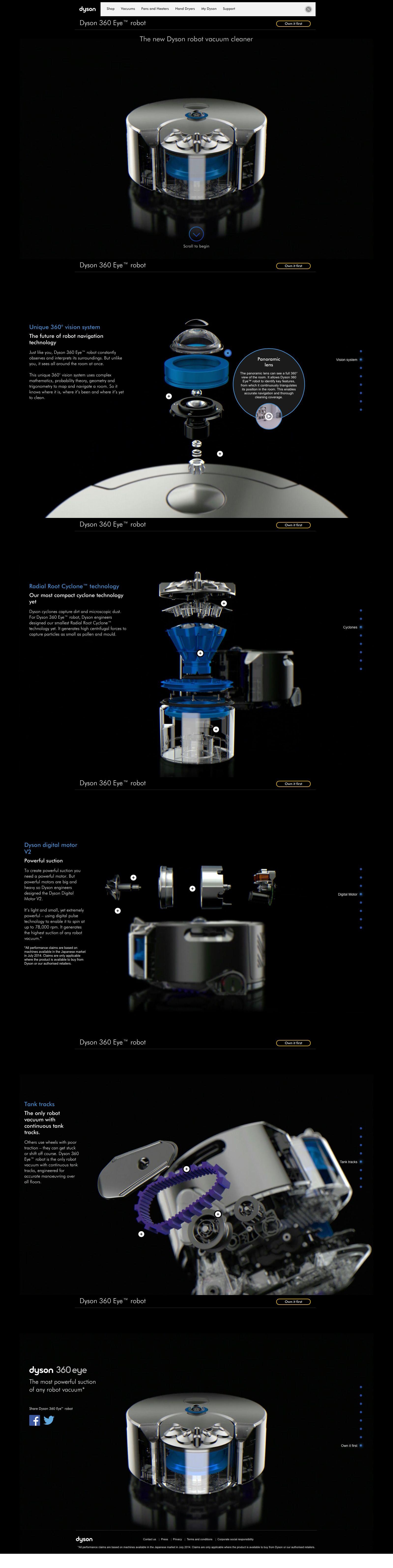 Dyson 360 Eye Robot Aspirateur Dyson Corporate Design Web Design Design