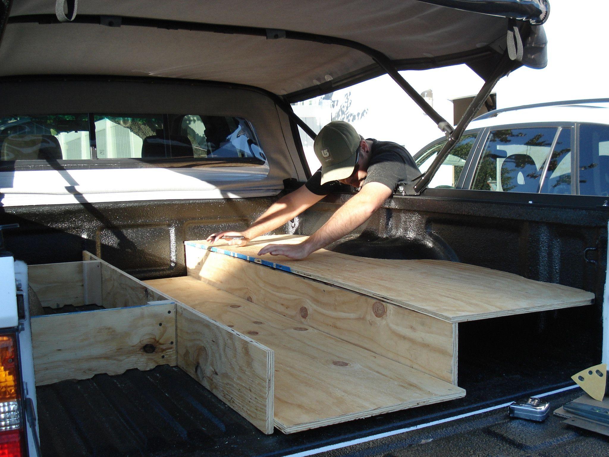 Fs Ca Sleeping Platform 1st Gen Xtracab Truck Bed Pickup Trucks Bed Truck Bed Camping
