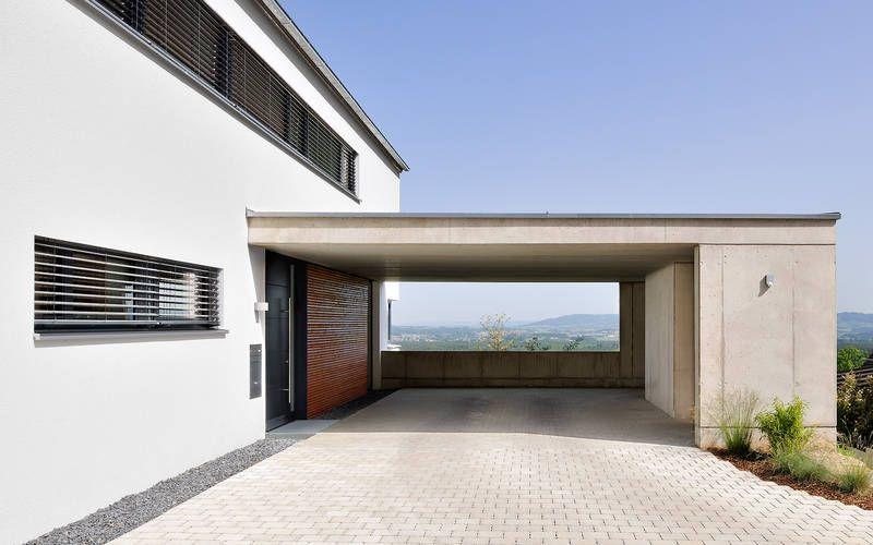 1128 einfamilienhaus, neubau | a.punkt architekten | carport, Deko ideen