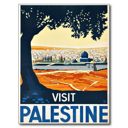 Carte Postale Voyage Vintage De La Palestine Visite