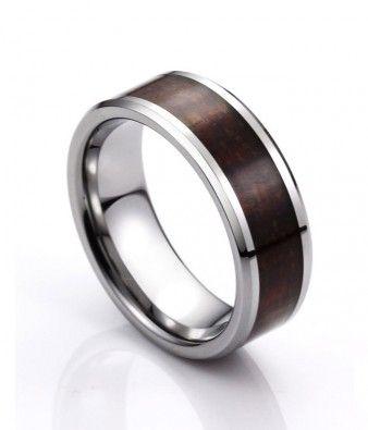 dark wood inlay tungsten wedding band tungsten republic wood_rings