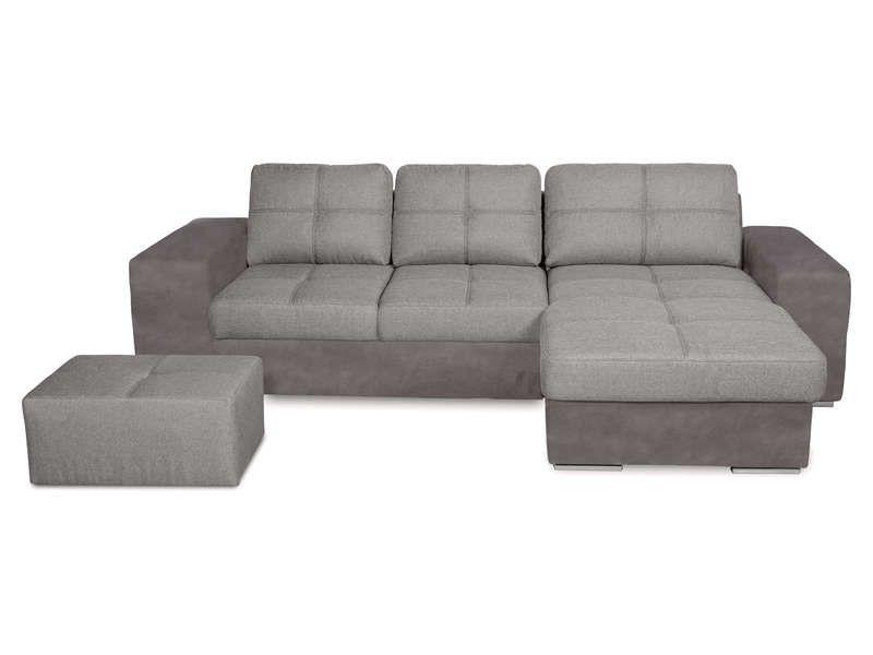 canap d 39 angle convertible et r versible 4 places serata coloris gris vente de canap d 39 angle. Black Bedroom Furniture Sets. Home Design Ideas