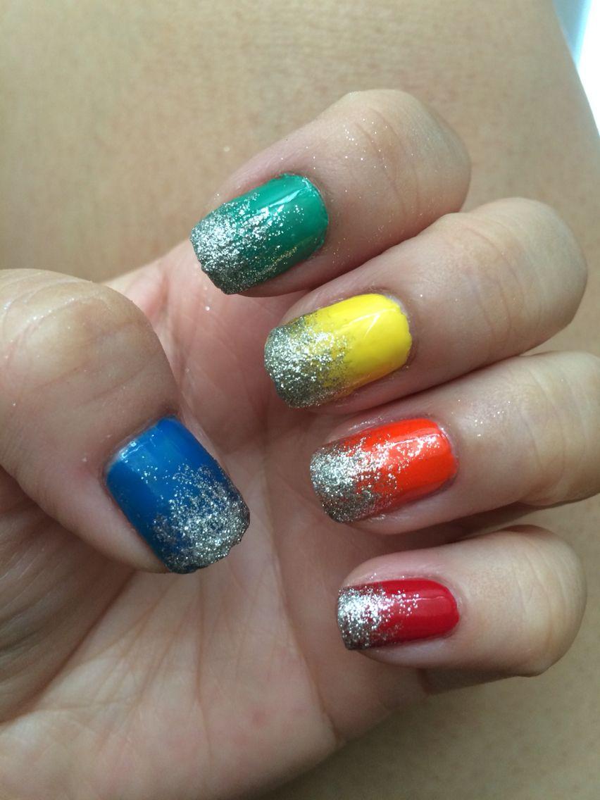 Rainbow with glitter