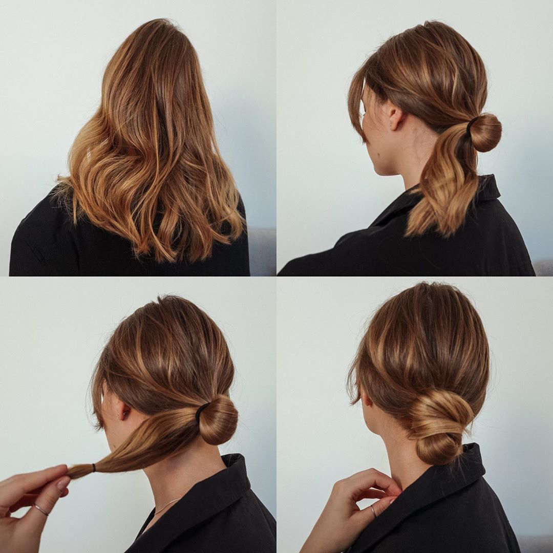 Easy Low Bun In 2020 Hairstyles For Thin Hair Long Hair Styles Easy Summer Hairstyles