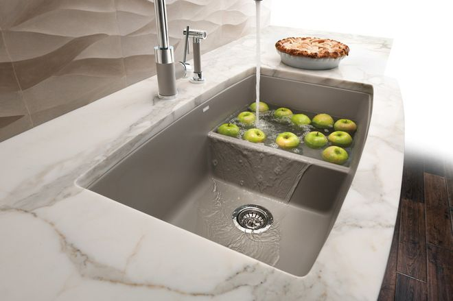 Sink With A Lowered Divider So You Can Soak Large Pans Contemporary Kitchen  Sinks By BLANCO