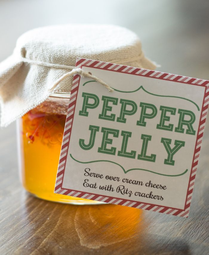No giving sweets for Christmas, Instead give a delicious appetizer. Pepper Jelly Neighbor gift idea and tag.