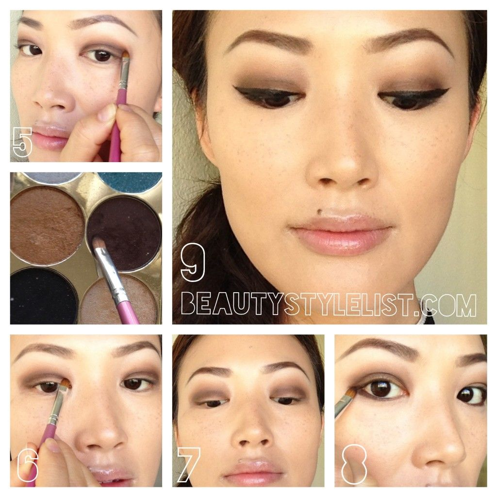 Brown Smokey Eye, How To, Step By Step, Brown Smokey Eye Tutorial,