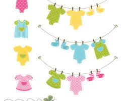 washing line onesies silhouette - Google Search