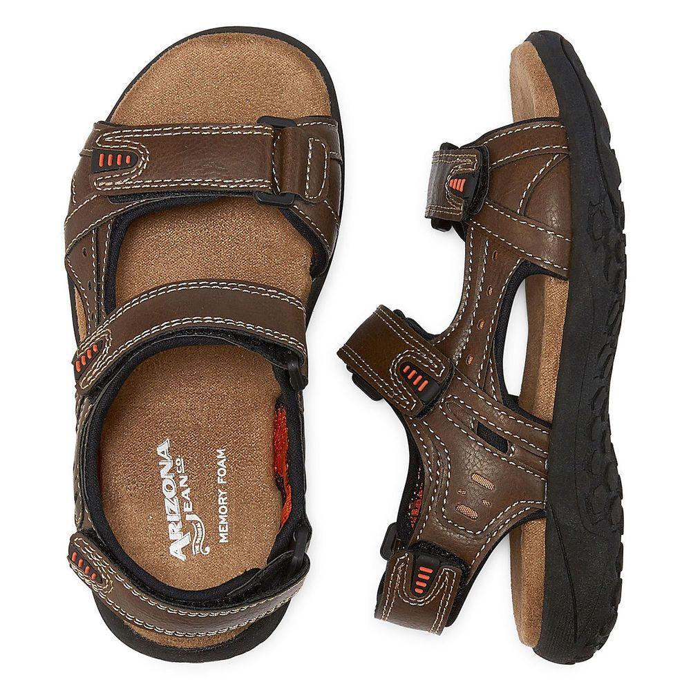 4eeb47230bf Arizona Dexter Boys Strap Sandals Brown size 11 12 13 1 3 4 5 NEW 19.99